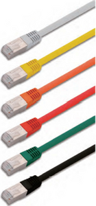 SF/UTP double fully shielded twisted 4 pairs category 5e patch cord