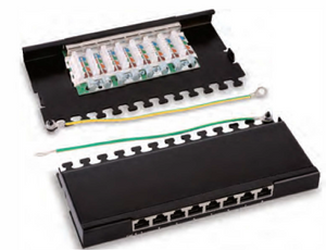 HY048 O.5U Shielded 8 Ports Patch Panel(Desktop).